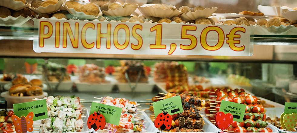Pinchos and other Spanish snacks