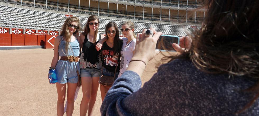 Visiting the bullfighting ring
