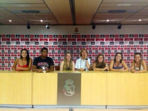 Press conference at Bernabau stadium