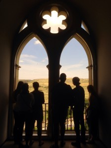 Checking out the view from the Alcazar