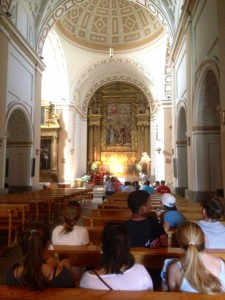 Resting in the church