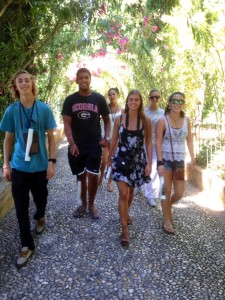 Strolling through the Alhambra gardens