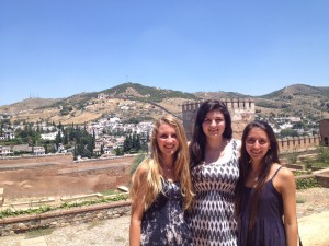 The girls at the Alhambra