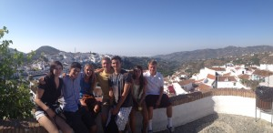 The group at one of the many panoramic viewpoints in the village