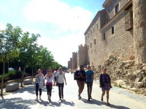 Walking in Avila