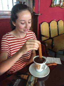 Brigid's First Chocolate con Churros