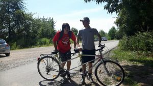 Tandem cycling to Ladenburg