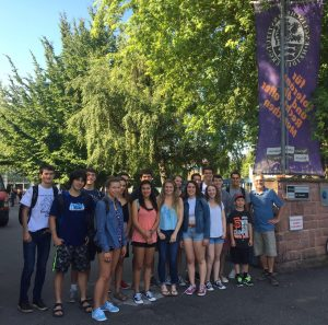 In front of the Englisches Institut school – Goodbye Heidelberg!