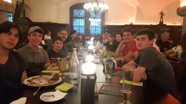 Evening group dinner at the Ratskeller, which literally means 'under the town hall'- nothing to do with rats!