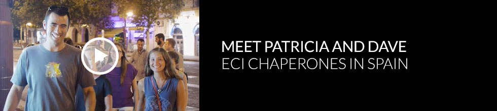 Click to play video - Meet the ECI chaperones in Spain Patricia and Dave